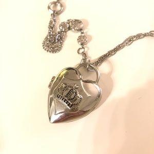 Funky silver heart locket
